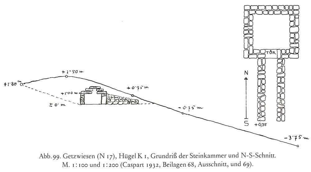 Römerzeitliches Hügelgrab mit Zugang